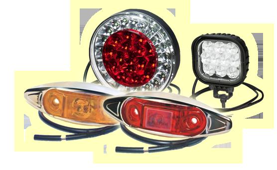 Seneste LED lygter til lastbiler, campingvogne, trailere, traktorer og TN61